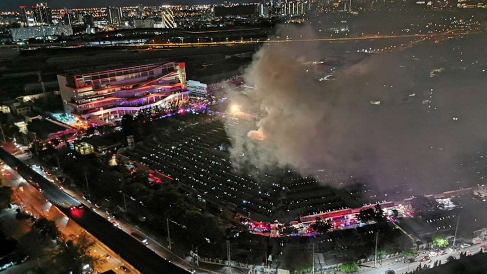 Bangkok's Chatuchak Market Catches Fire, Destroying 110 Shops