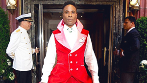 You Have To See Billy Porter's Impressive Suit-gown Made Out Of Curtains