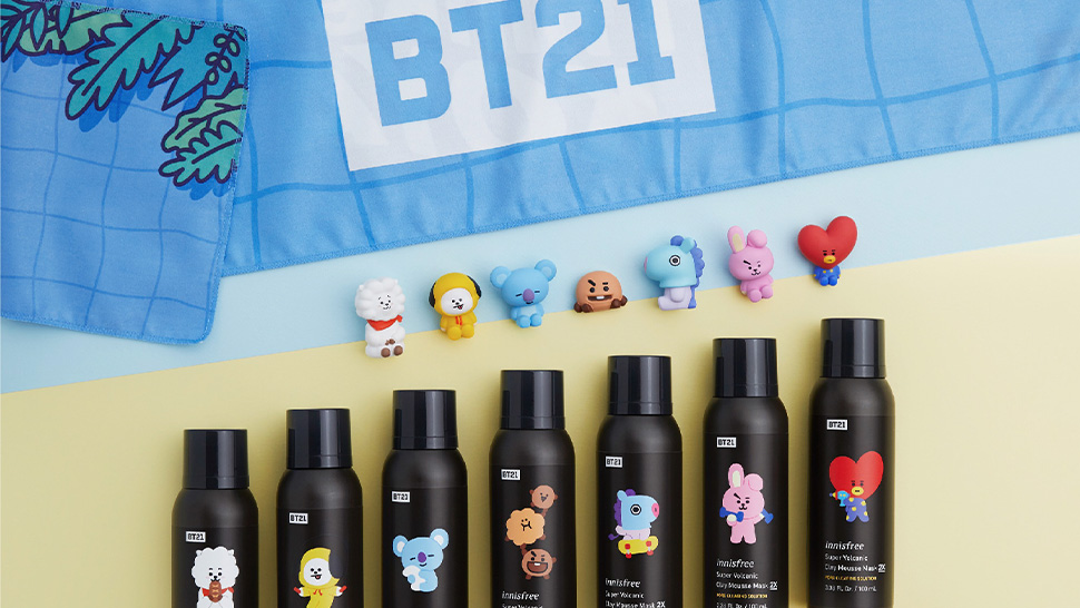 Here's Your First Look At The Innisfree X Bt21 Collection
