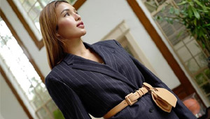 Sarah Lahbati Teaches You How To Wear A Belt Bag To The Office