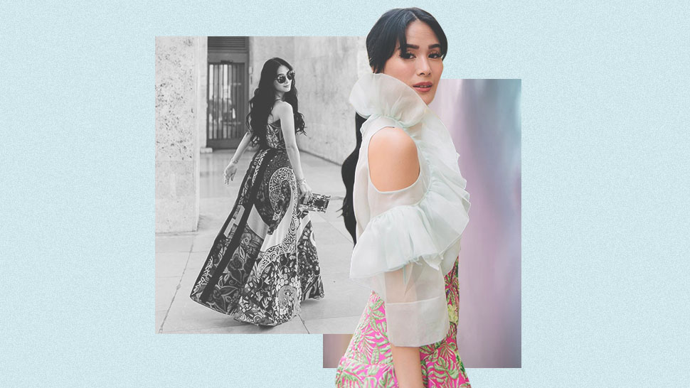 This Seems to Be Heart Evangelista's New Favorite OOTD Pose