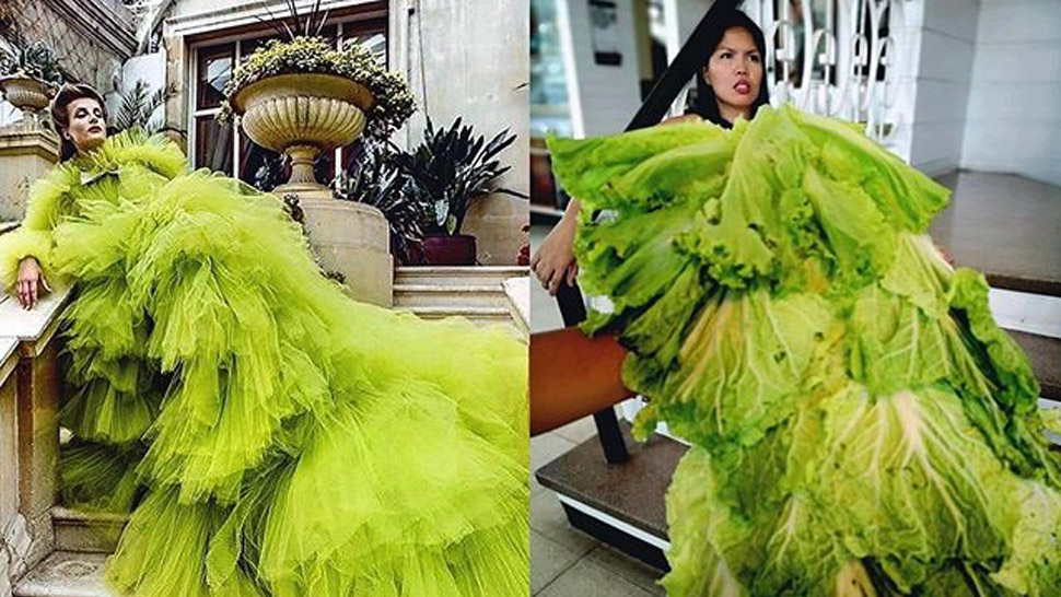 You Have to See These Hilarious Local Bloggers Recreating Couture Looks