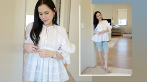 Jinkee Pacquiao Has A Dainty Way To Style Denim Bermuda Shorts