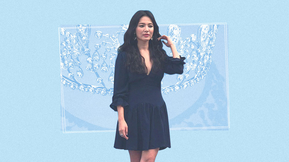Song Hye Kyo Stuns In Another Public Appearance Wearing A Little Blue Dress