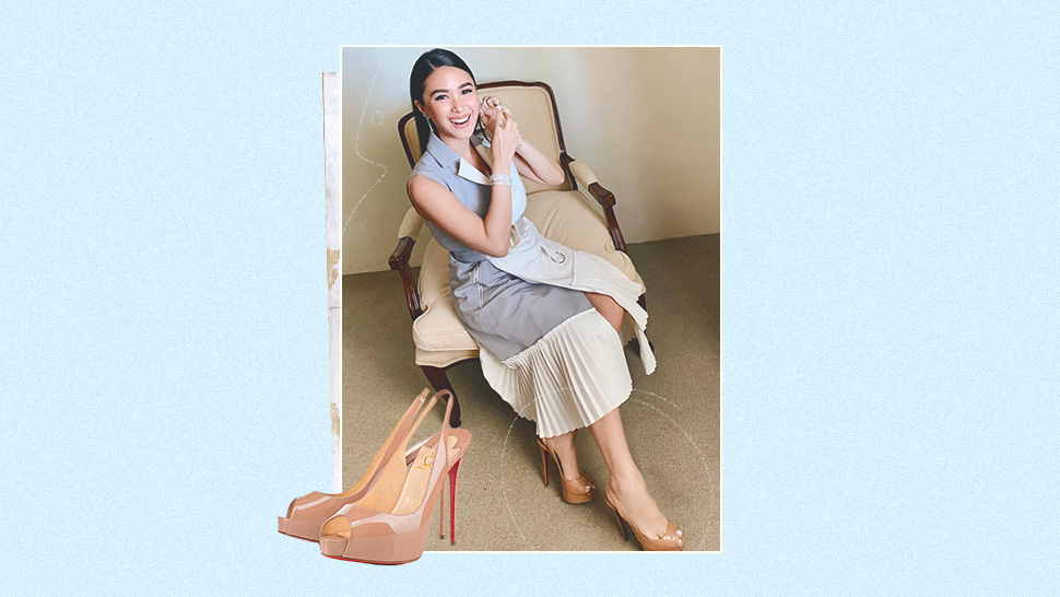 These Are The Exact Nude Heels Heart Evangelista Always Wears