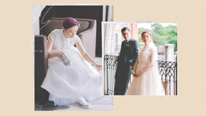 This Unconventional Bride Wore A Barong-inspired Wedding Gown With Sneakers