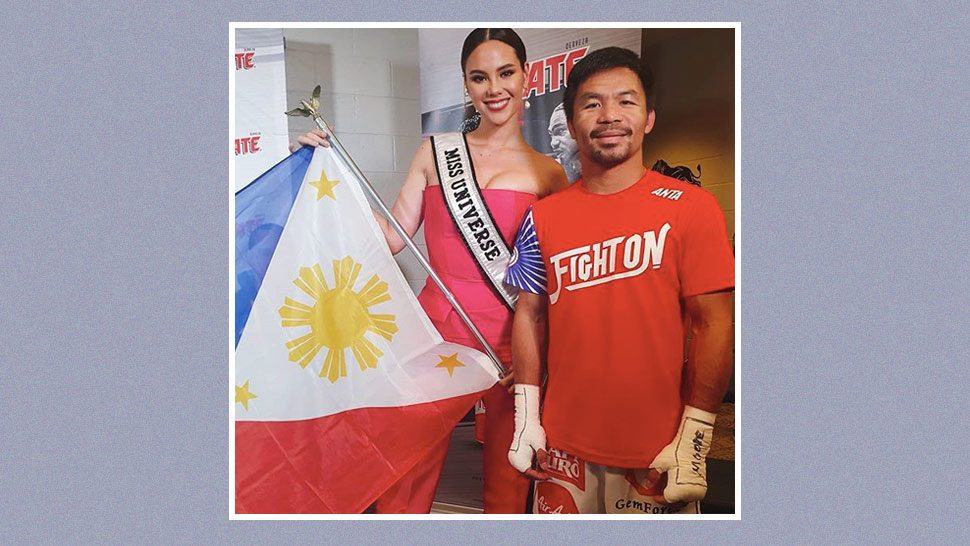 Catriona Gray Flew to Las Vegas to Support Manny Pacquiao