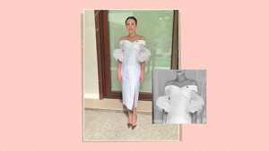 Tootsy Angara Stuns In A Silk White Dress For Sona 2019