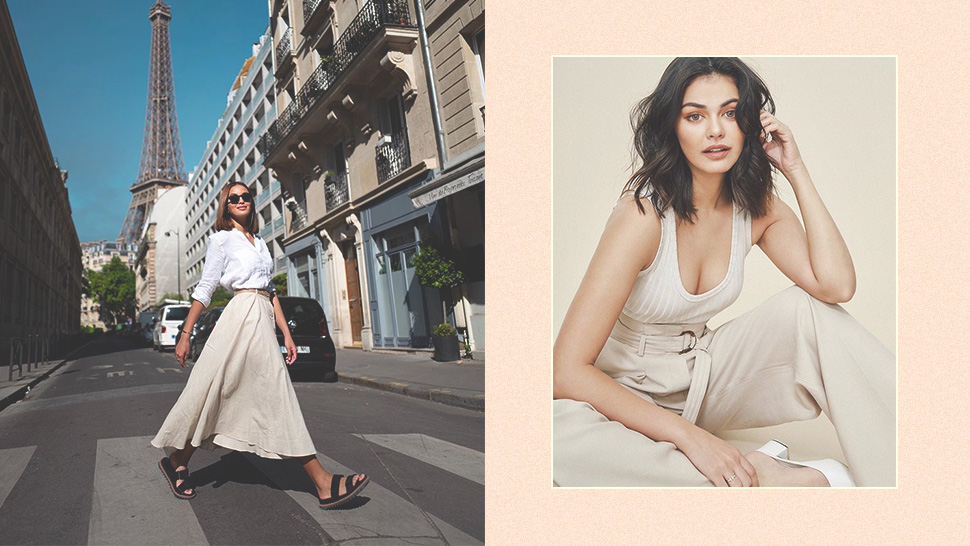 20 Cool And Easy Ways To Wear A Beige-and-white Ootd