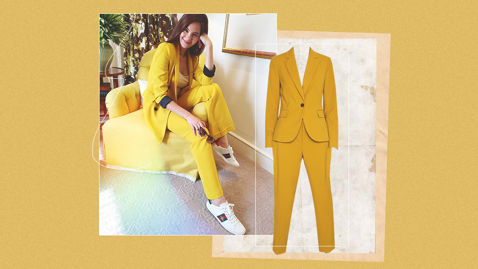 We Found The Exact Blazer Catriona Gray Wore In This Bright Yellow Ootd