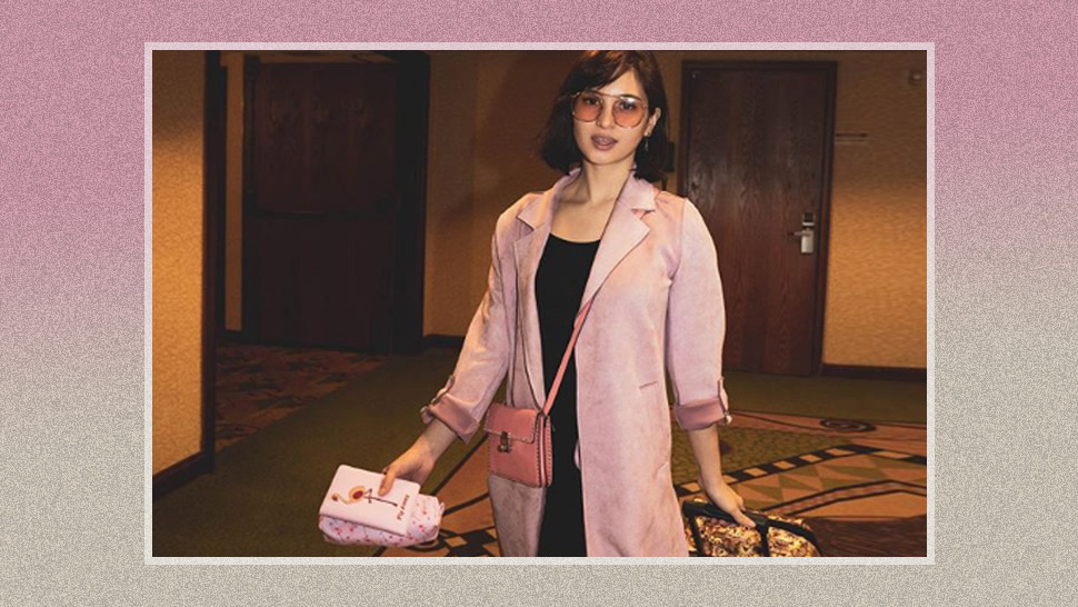 We're Obsessed With Coleen Garcia's Dainty Pink Airport Ootd