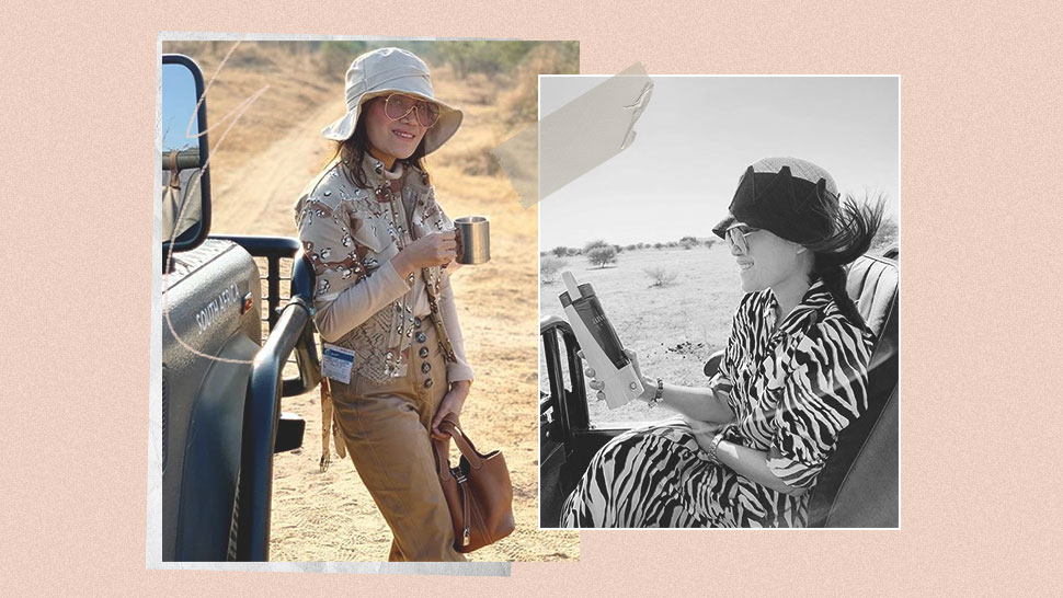 You Have to See Dr. Aivee Teo's African Safari Vacation OOTDs