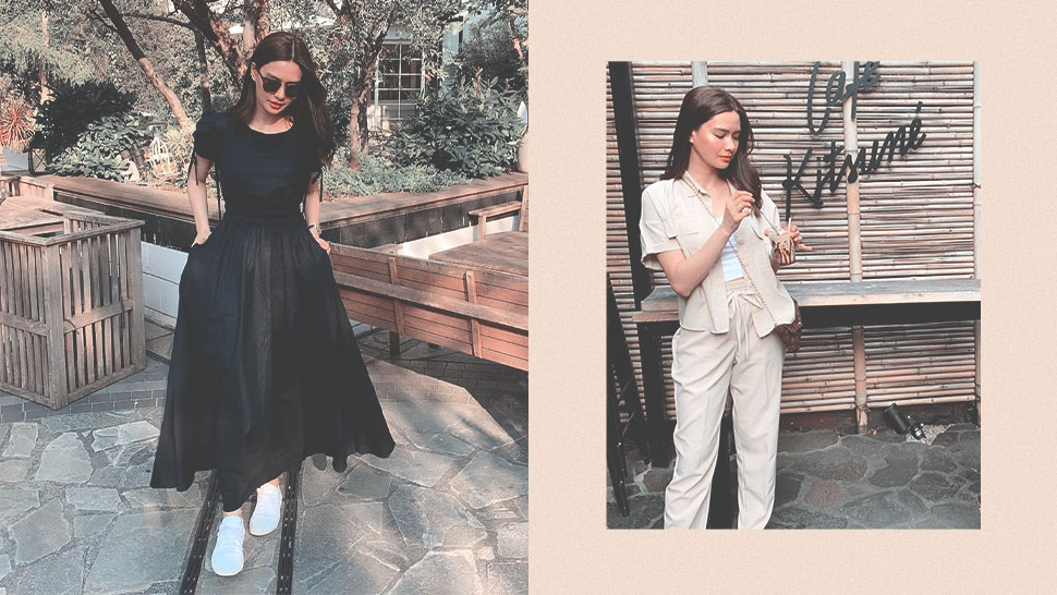 Erich Gonzales Is Making a Case for Monochromatic Travel OOTDs