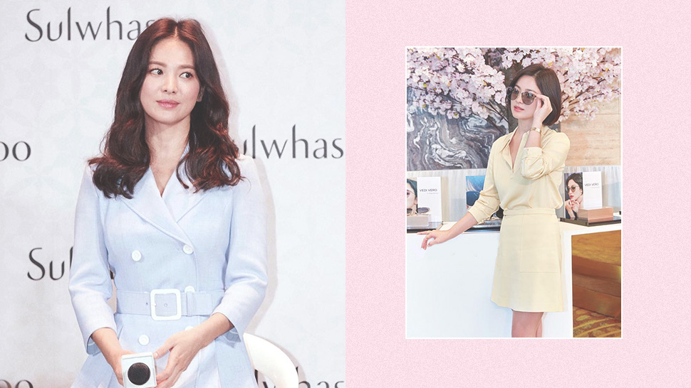 We're Obsessed with Song Hye Kyo's Sweet Pastel OOTDs