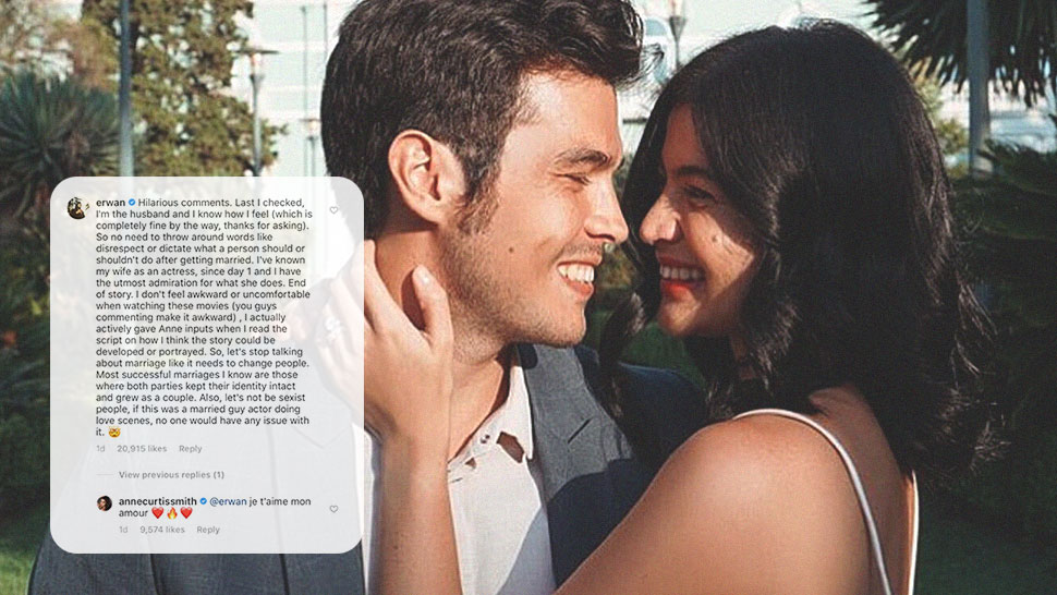 Erwan Heussaff Shuts Down Bashers with His Comment on Anne Curtis' New Film