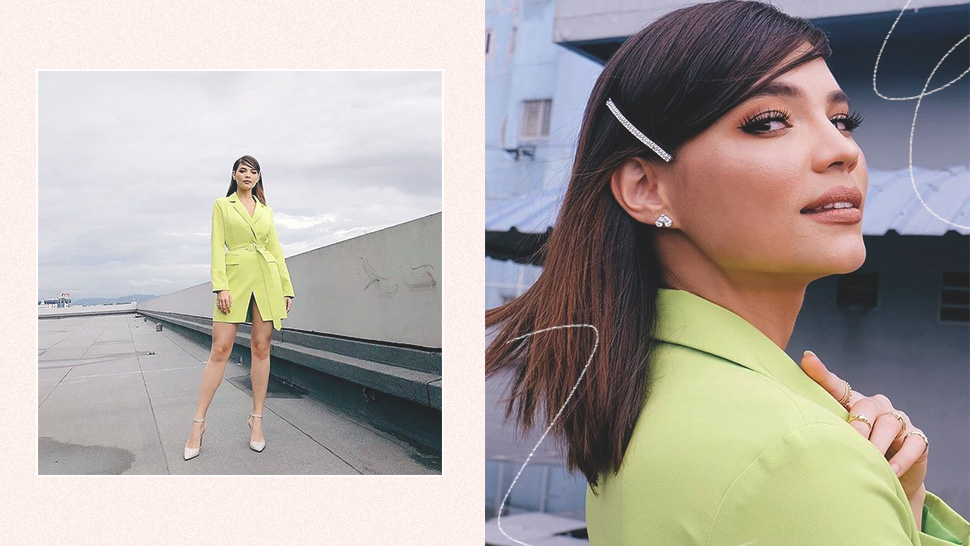 Rhian Ramos Has A Sleek, Chic Way To Wear Neon Yellow