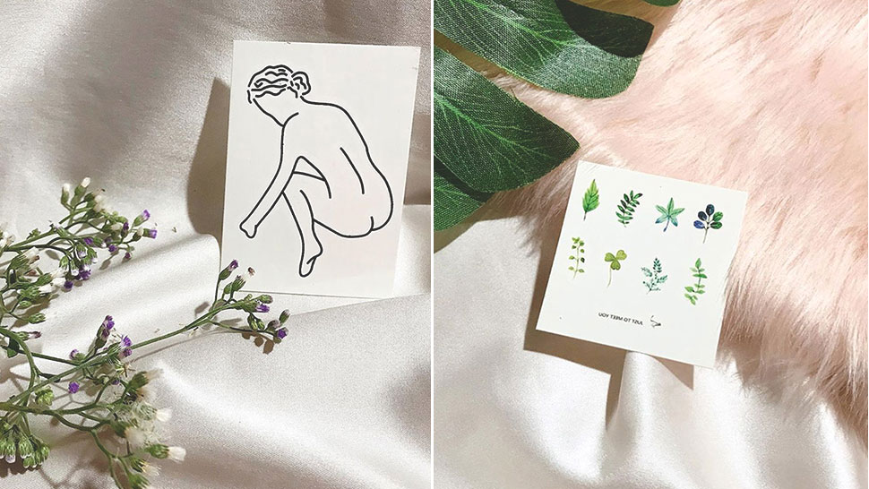 You'll Fall in Love with These Beautiful, Tiny Temporary Tattoos