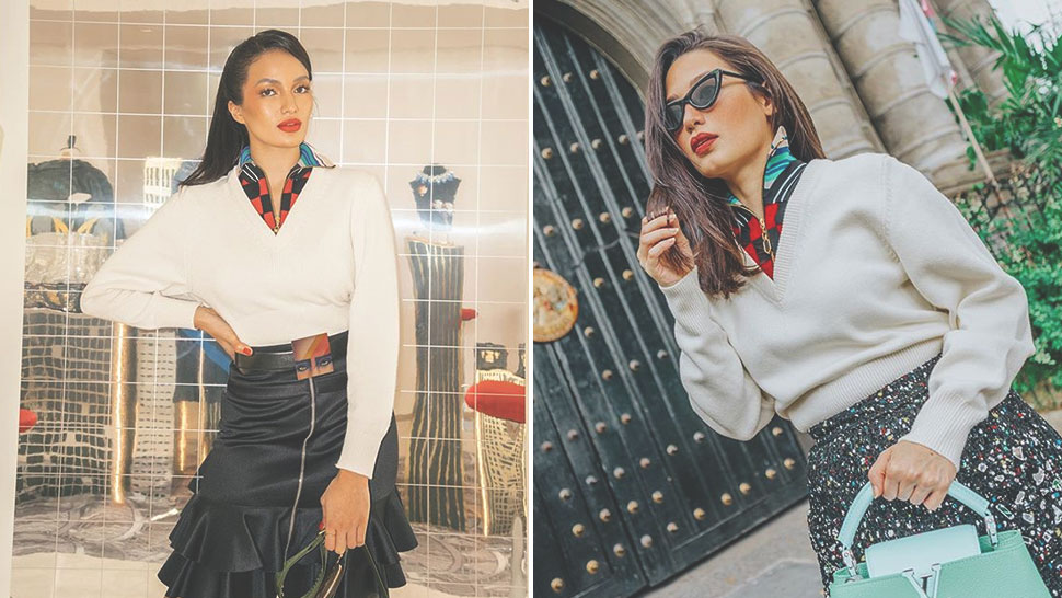 Sarah Lahbati And Nicole Andersson Are Matching In This Louis Vuitton Top