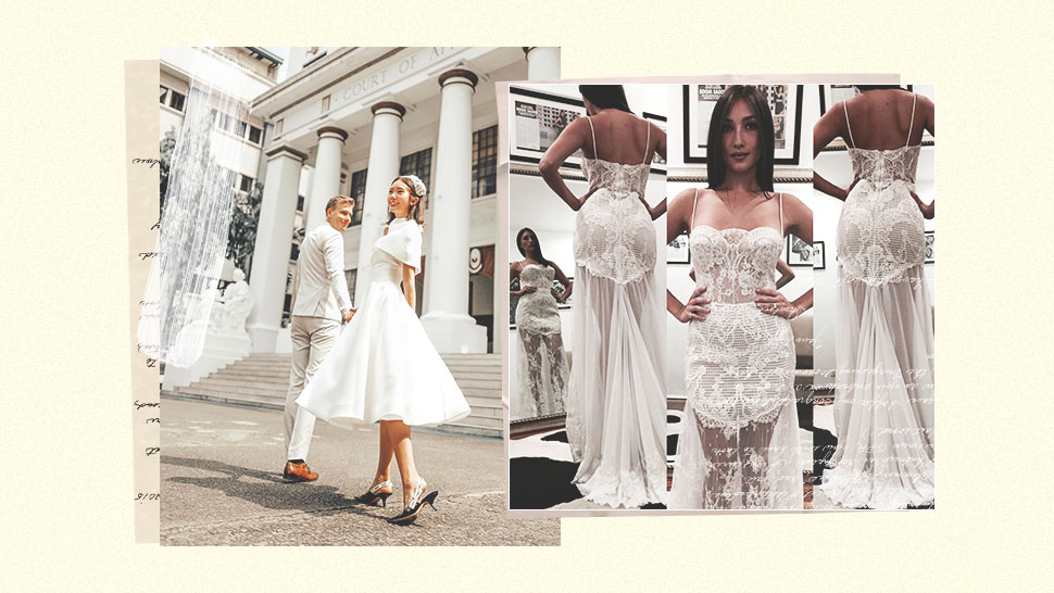 6 Celebrity Brides Who Wore The Chicest Civil Wedding Dresses