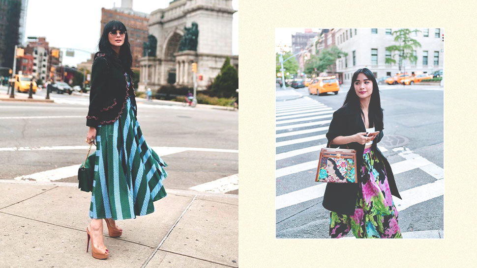 All the Designer Pieces Heart Evangelista Wore to New York Fashion Week