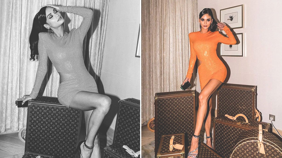 We Found The Exact Sparkly Orange Dress Pia Wurtzbach Wore
