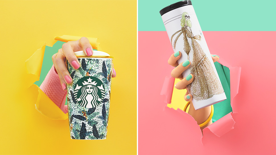Starbucks' New Rachel Zoe Collection Is A Treat For Print Lovers