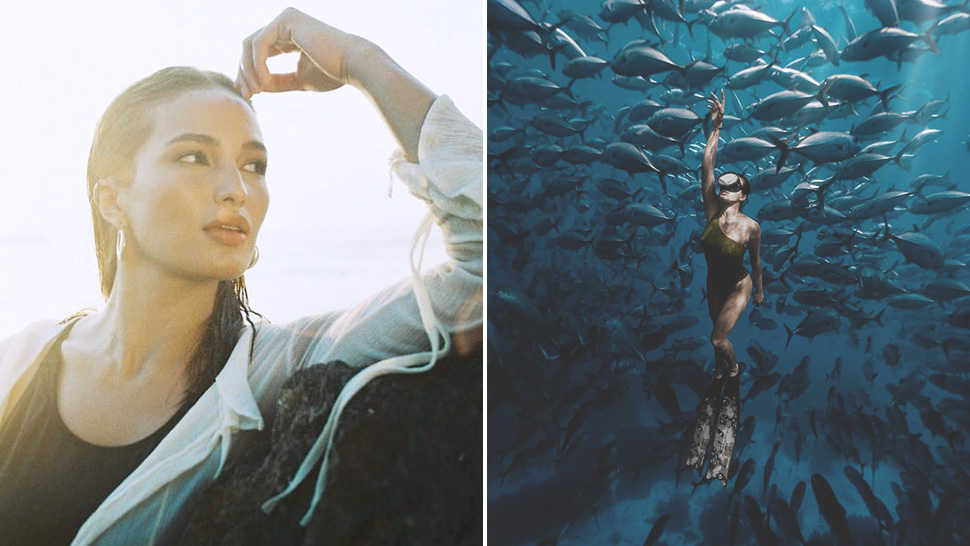 You Have To See Sarah Lahbati's Captivating Cover For Asian Diver