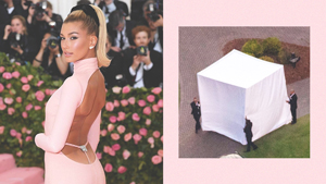 Hailey Bieber Hid Her Wedding Look From Paparazzi And It Was Hilarious