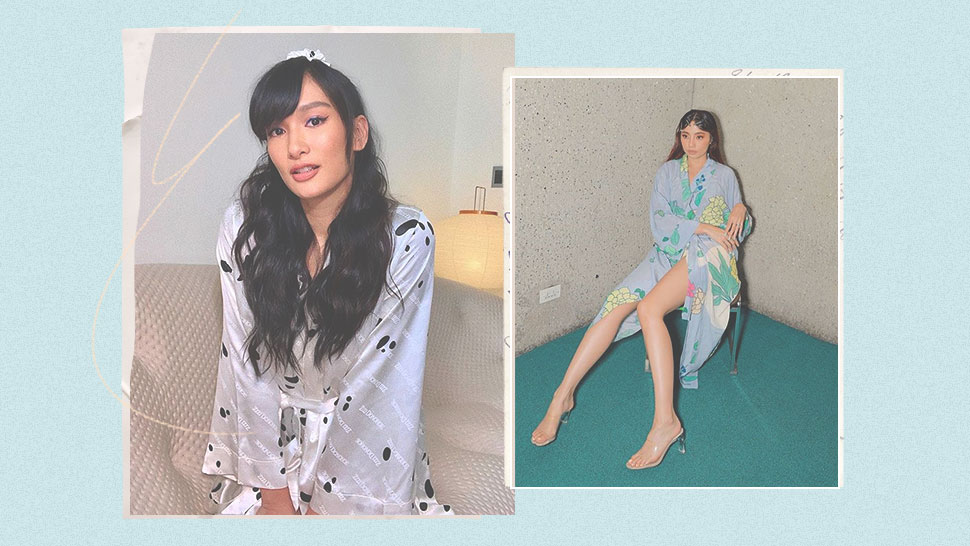The It Girls Will Make You Want To Buy Your Own Silk Bathrobe