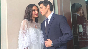 We Found Sarah Lahbati's Exact Wedding Announcement Look