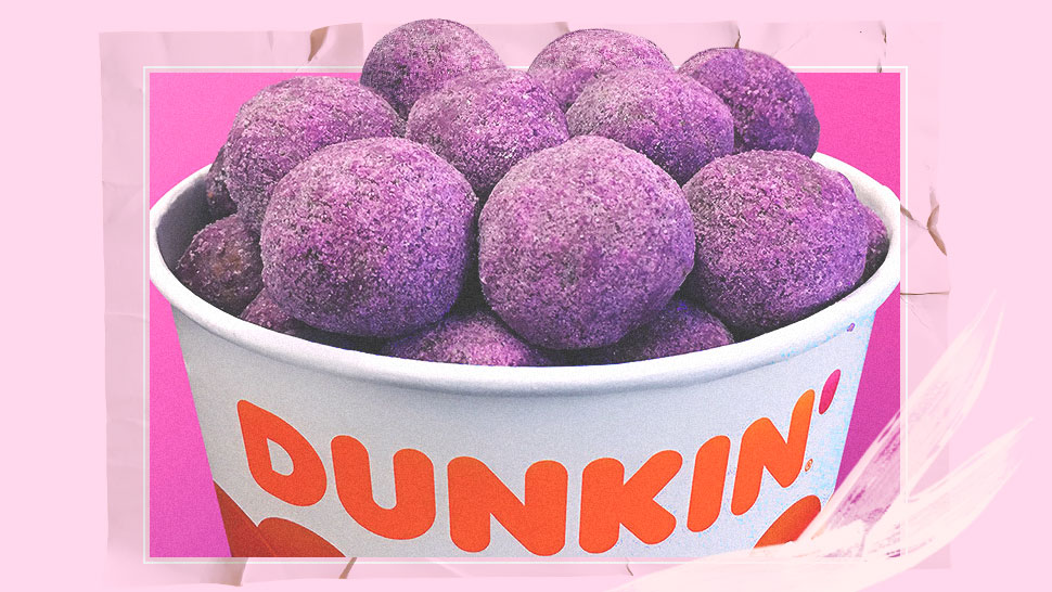 Fyi, Dunkin' Donuts Now Offers Ube-flavored Munchkins