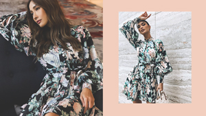 We Spotted Pia Wurtzbach And Marie Lozano In Matching Floral Dresses
