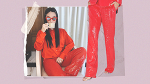 We Found The Exact Sparkly Red Pants Worn By Heart Evangelista
