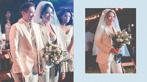 These Brides Wore Elegant White Suits To Their Wedding
