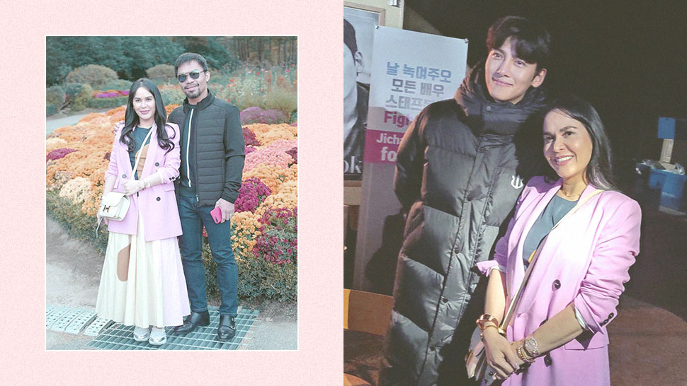 Here's What Jinkee Pacquiao Wore To Meet Ji Chang Wook In Korea