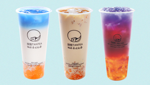 This New Milk Tea Shop Offers Peach Gum Sinkers