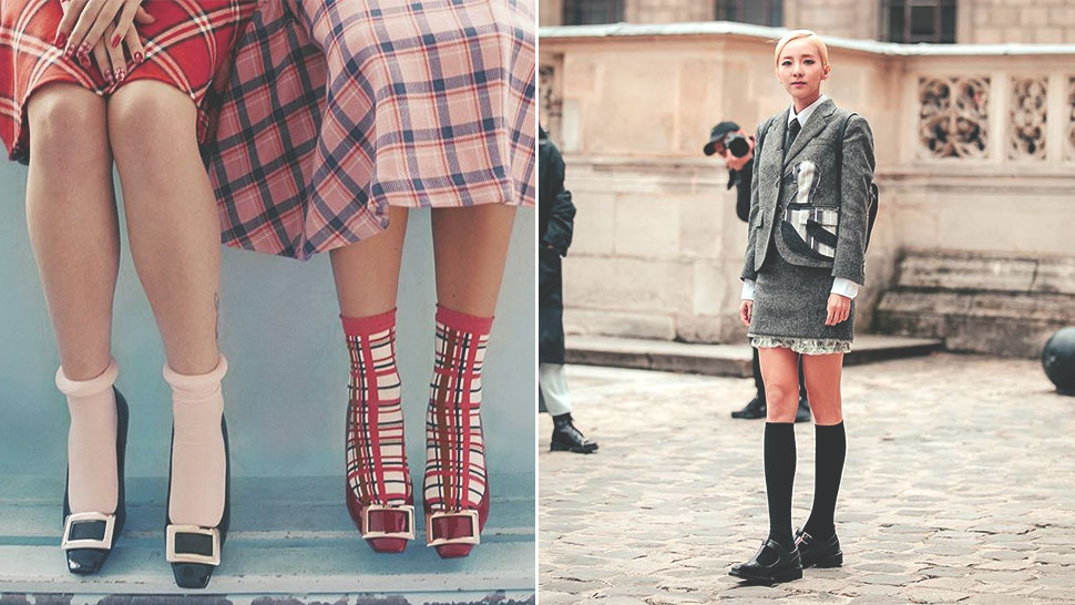 This Will Finally Convince You to Wear Socks with Low Heels