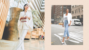 How To Style A Classic White Blazer, According To Celebs