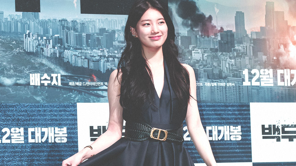 "The Exact Dior Dress Suzy Bae Wore To The ""mount Baektu"" Press Conference"