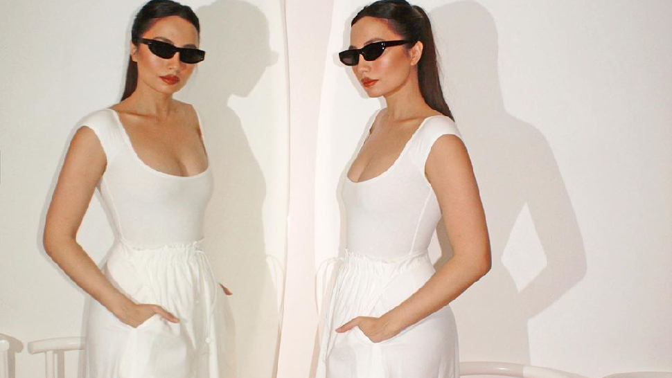 We Found the Exact White Midi Skirt Martine Ho Recently Wore