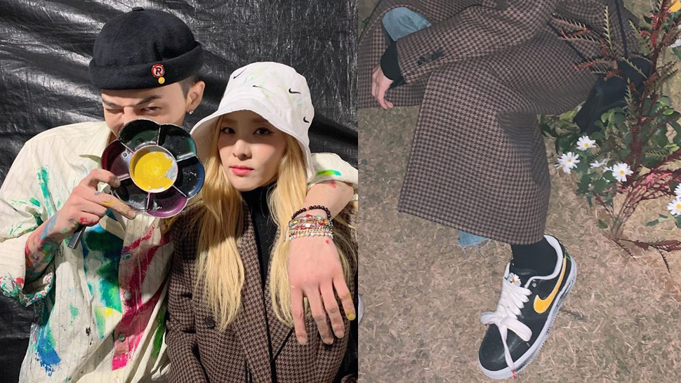 You Have to See the Custom Nike Sneakers G-Dragon Gave Sandara Park