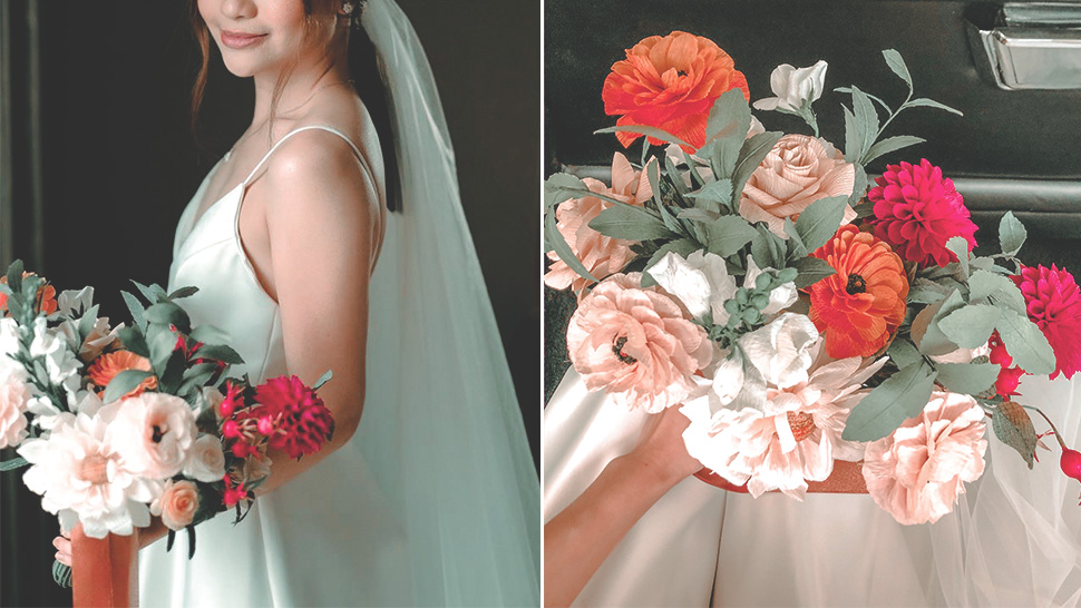 This Bride Used Paper Flowers For Her Wedding Bouquet