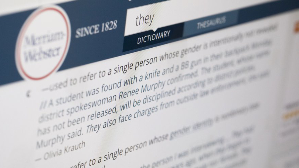 """They"" Is Merriam Webster's Word of the Year and Here's Why It Matters"