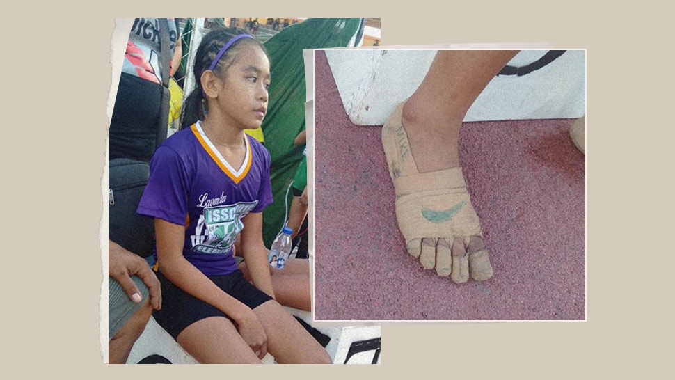 "This Young Athlete Won 3 Gold Medals Wearing Makeshift ""nike"" Sneakers"