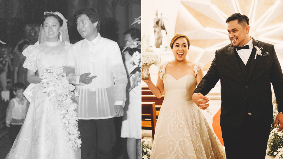 This Bride Re-Wore Her Mom's Old Wedding Dress