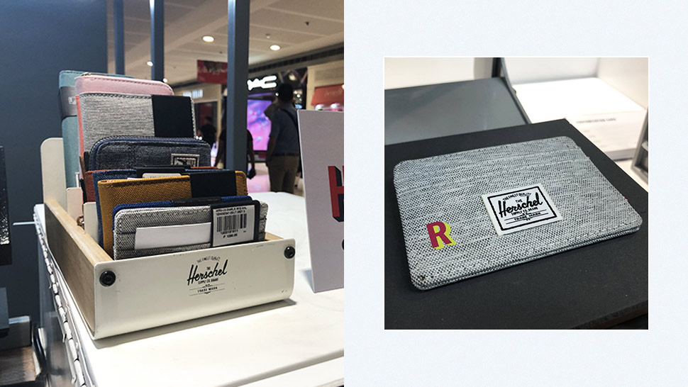This Pop-Up Booth Lets You Personalize Herschel Wallets for Free