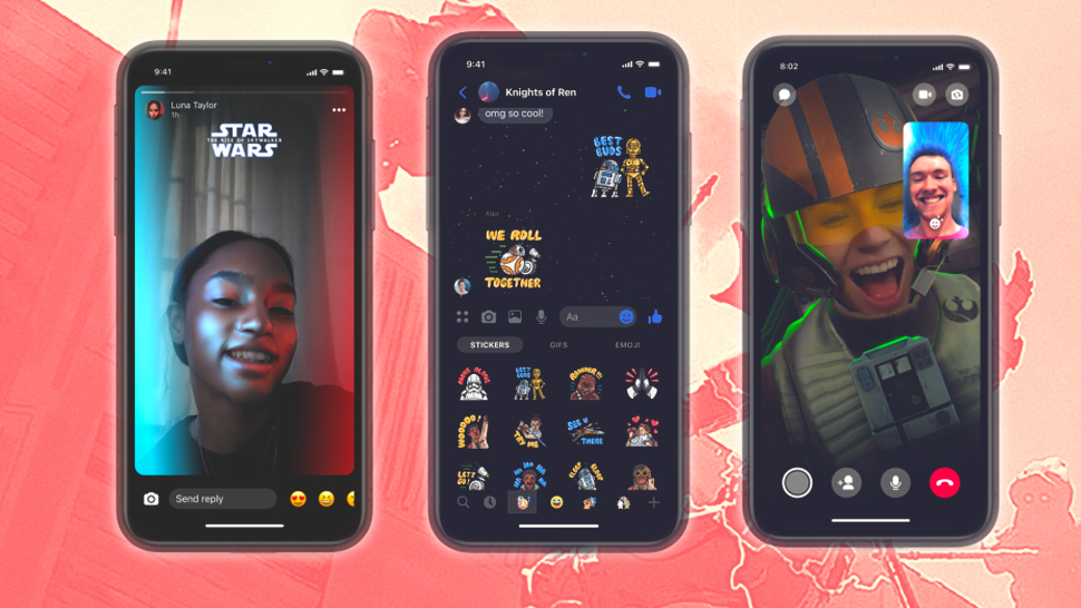 FB Messenger Now Has Star Wars-Themed Stickers and Effects