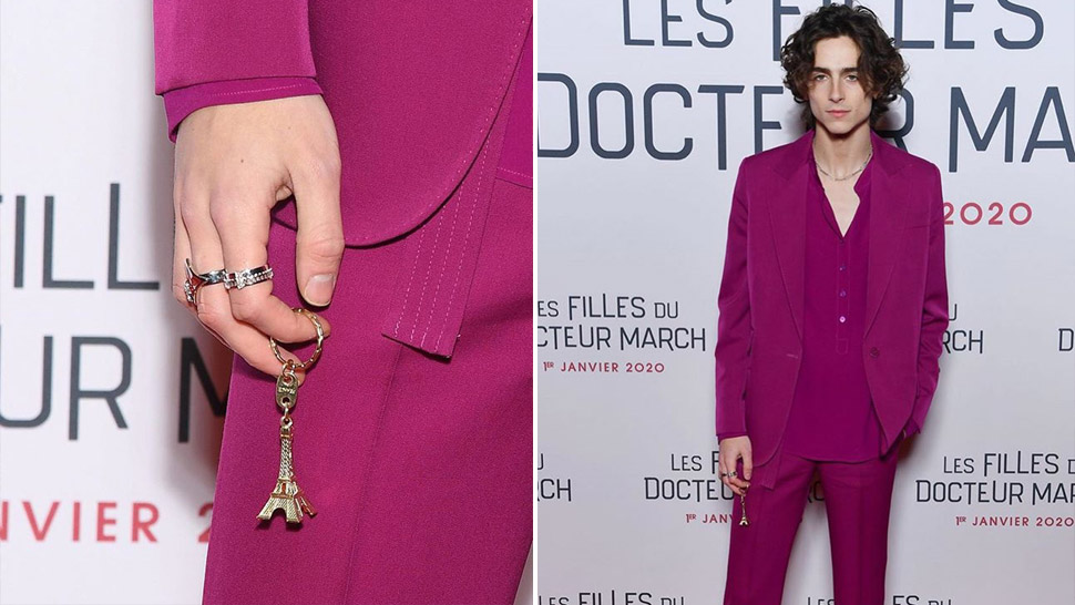 Timothee Chalamet Is Making Us Want To Use A Keychain As An Accessory