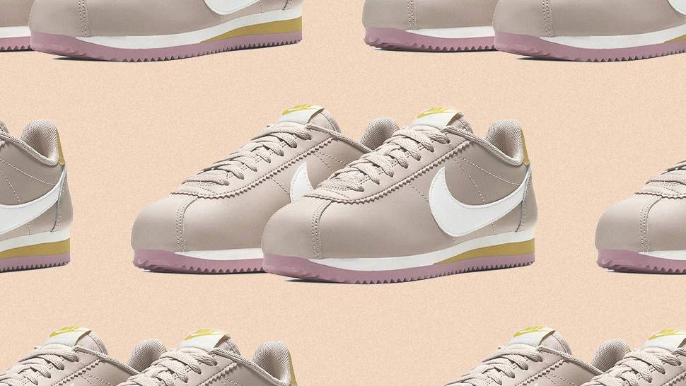 The Nike Cortez Now Comes In A Nude Colorway With Pink Accents