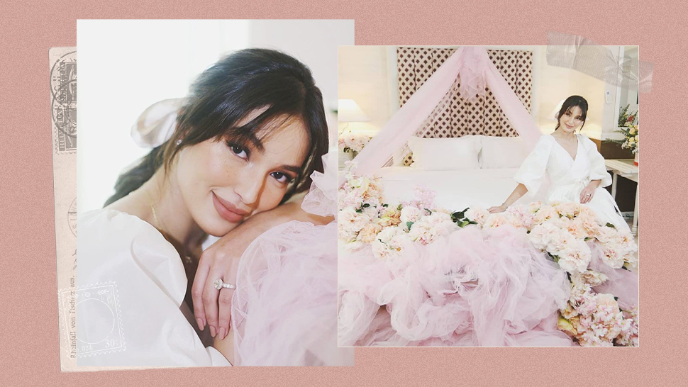 We Are Obsessed with the Stunning Details of Sarah Lahbati's Bridal Shower